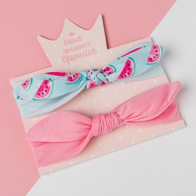 """A set of bandages on his head Baby I """"Melon"""" pink/blue. R-R 48, 1.5-3 years"""