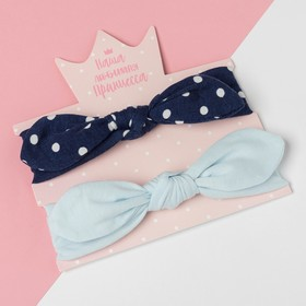 """A set of bandages on his head Baby I """"Leaves""""polka dots blue/blue, R-R 48, 1.5-3 years"""