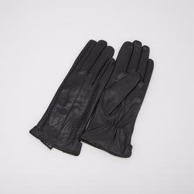 Перчатки женские, размер 7, длина 25 см, с подкладом шерсть, цвет чёрный