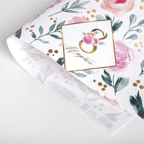 Бумага крафтовая «8 марта», розы, 50 × 70 см в Донецке