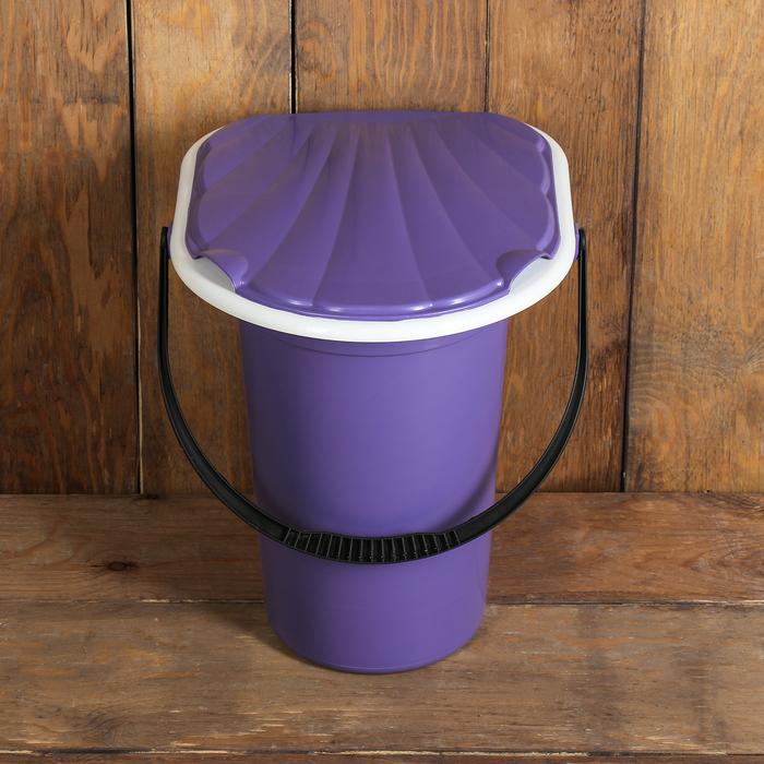 Ведро-туалет, 18 л, фиолетовый