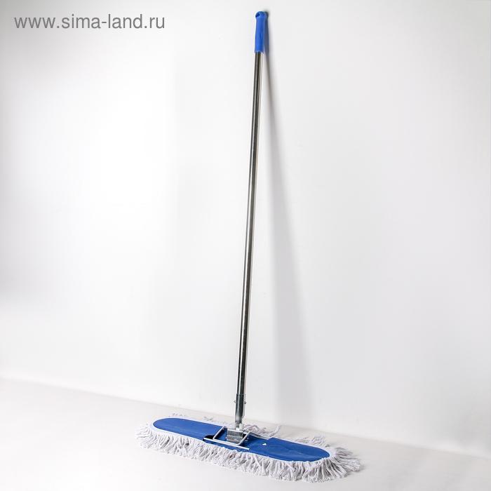 MOP flat handle stainless steel, wide cotton head 55х13х129 cm