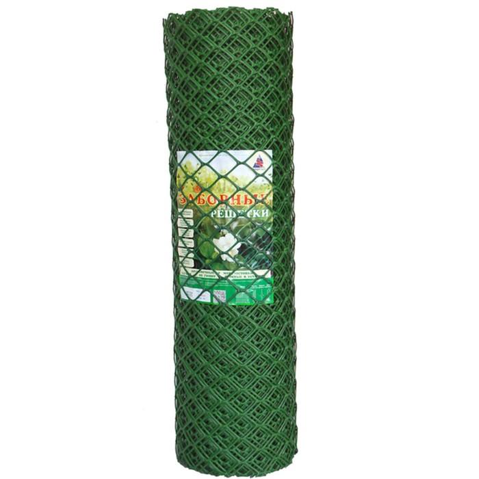 Сетка садовая, 1,9 х 25 м, ячейка ромб 55 х 58 мм, зелёная