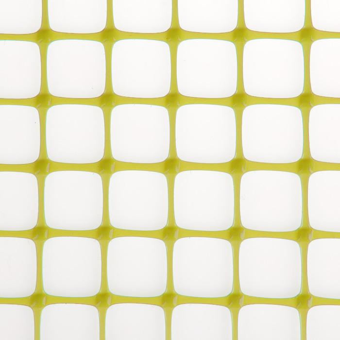 Сетка садовая, 1 х 10 м, ячейка квадрат 20 х 20 мм, жёлтая
