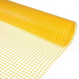 Сетка садовая, 1 × 20 м, ячейка квадрат 2 × 2 см, жёлтая