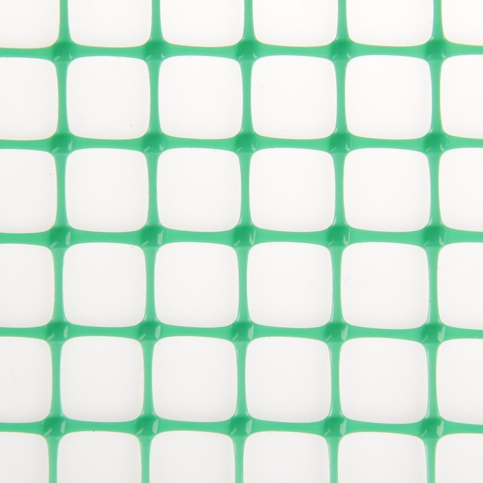 Сетка садовая, 1 х 20 м, ячейка квадрат 20 х 20 мм, зелёная