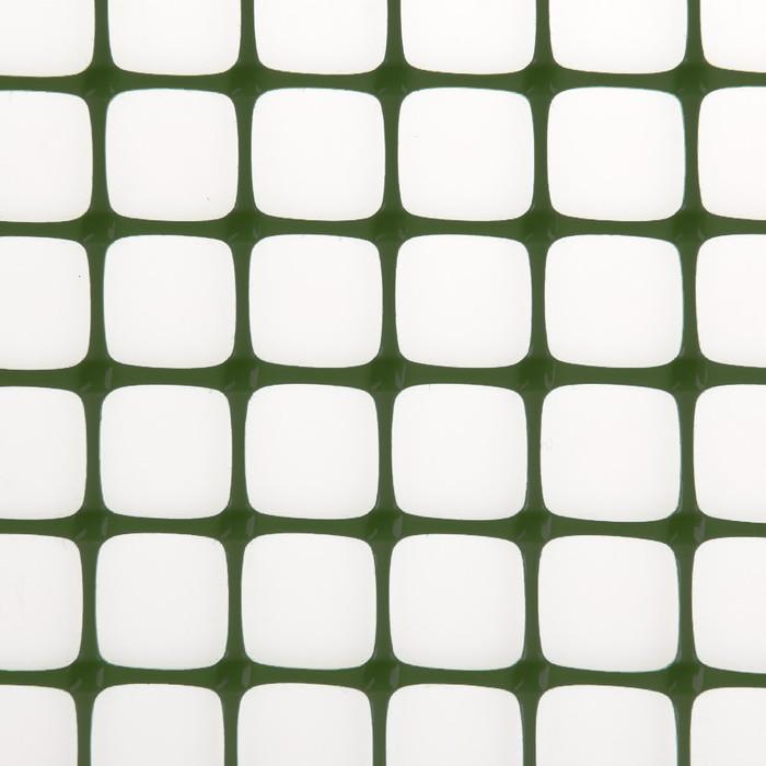 Сетка садовая, 1 х 20 м, ячейка квадрат 20 х 20 мм, хаки