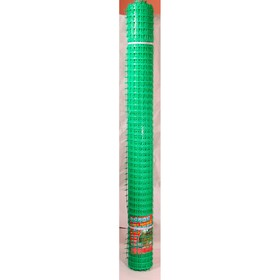 Сетка садовая, 1 × 20 м, ячейка квадрат 4,5 × 4,5 см, зелёная