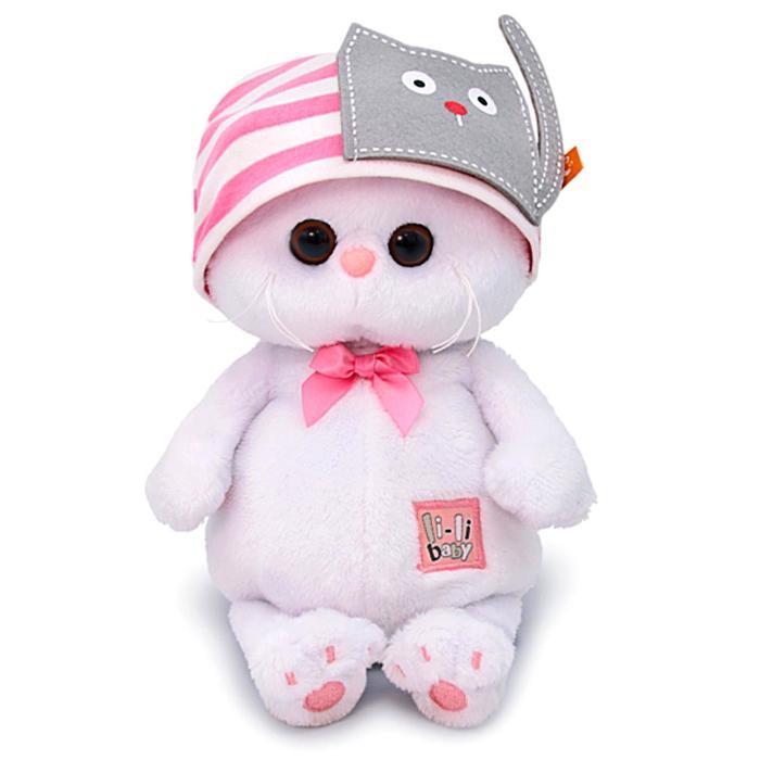 Мягкая игрушка «Ли-Ли BABY» в шапочке с кошечкой, 20 см - фото 4470437