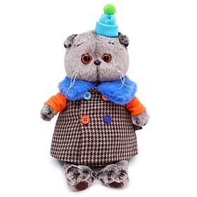 Мягкая игрушка «Басик» в комбинированном пальто, 19 см