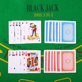 """Карты игральные бумажные """"Ланфэр"""", 54 шт, 280  г/м2, 9.2х6.5 см"""