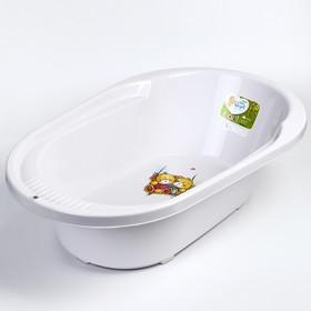 """Ванночка детская """"COOL"""" 82 см., с дизайном """"Bears"""", 42 л., цвет серо-сиреневый"""