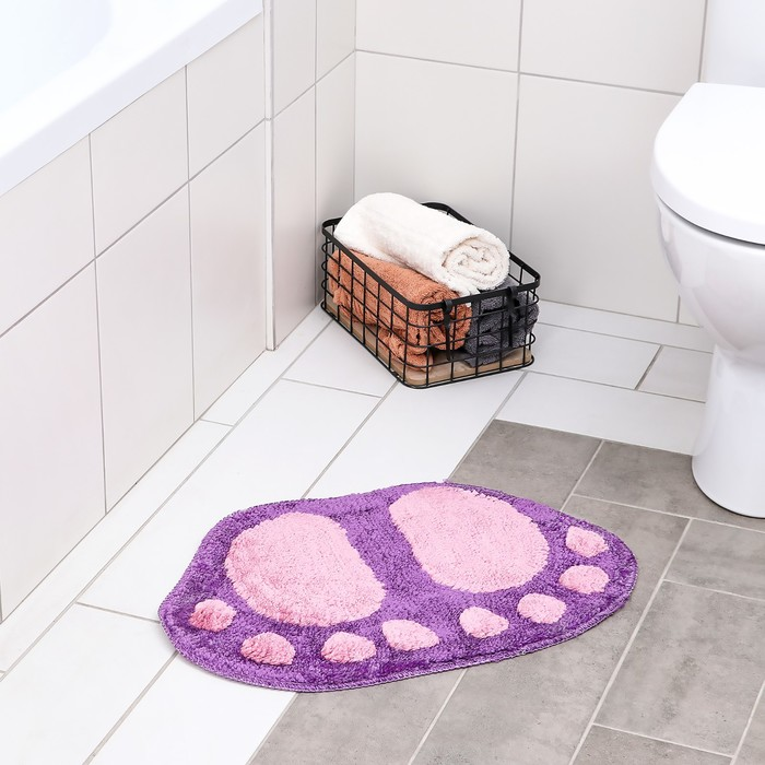 """Коврик для ванны """"Круглые пальчики"""", цвет МИКС"""