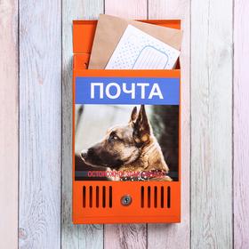 Ящик почтовый с замком, вертикальный, «Фото», МИКС, оранжевый