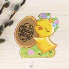 """Magnet from scratch-layer """"Chicken wreath"""", 6.9 x 7 cm"""