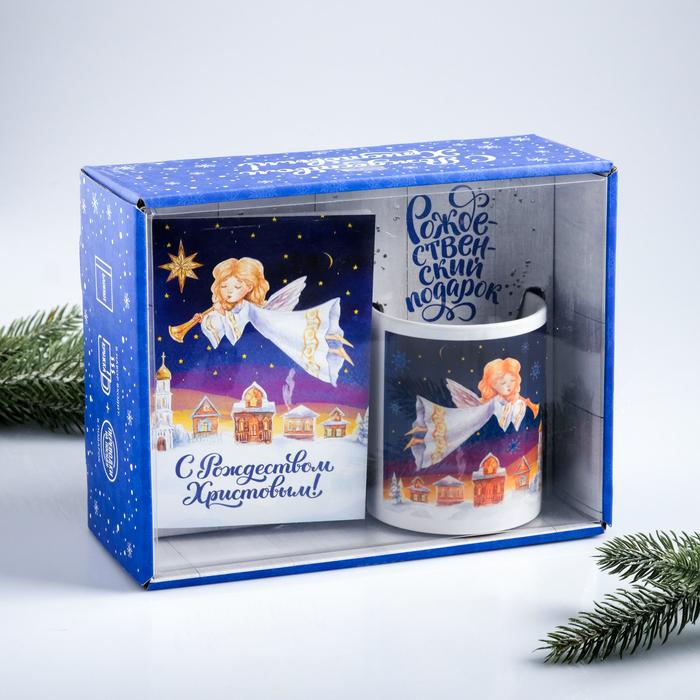 Подарочный набор «С Рождеством Христовым!», 3 предмета: кружка, блокнот, переводки на посуду
