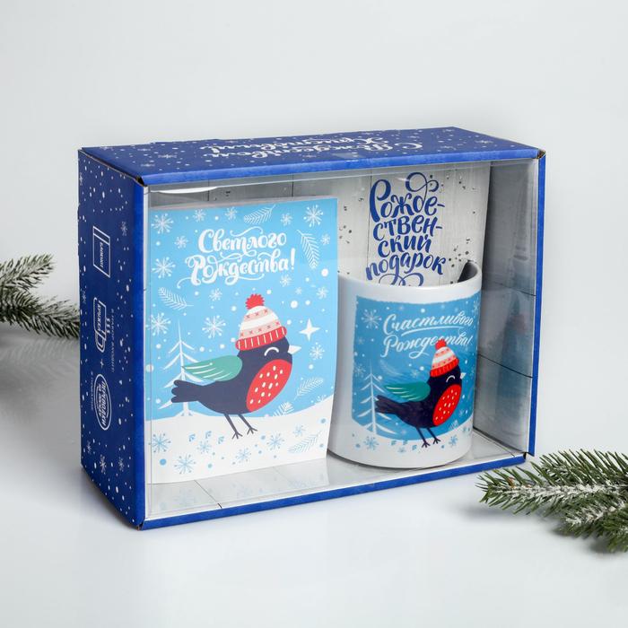 Подарочный набор «Светлого Рождества!», 3 предмета: кружка, блокнот, переводки на посуду