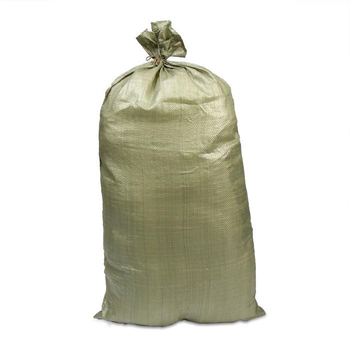 Мешок ПП, 55 × 105 см, на 50 кг, зелёный