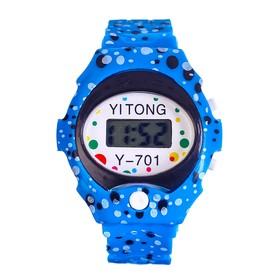 """Часы наручные """"Пупырка"""", электронные, с силиконовым ремешком, l= 23 см, микс"""