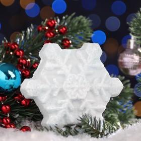Бурлящая соль для ванны «Снежинка», белая, с ароматом шоколада, 100 г Ош