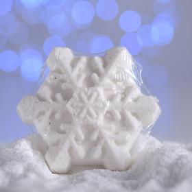 Бурлящая соль для ванны «Снежинка», белая, с ароматом печенья, 100 г Ош
