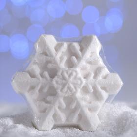 Бурлящая соль для ванны «Снежинка», белая, с ароматом миндаля, 100 г Ош