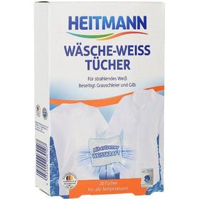 Отбеливающие салфетки для белого белья Heitmann, 20 шт.