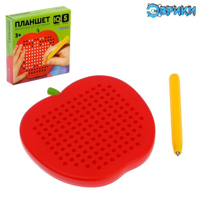 Магнитный планшет яблоко маленькое, 142 отверстий, цвет красный - фото 1039490