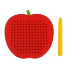 Магнитный планшет яблоко маленькое, 142 отверстий, цвет красный - фото 1039491