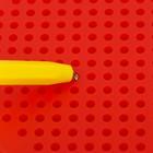 Магнитный планшет яблоко маленькое, 142 отверстий, цвет красный - фото 1039493