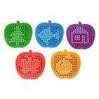 Магнитный планшет яблоко маленькое, 142 отверстий, цвет красный - фото 1039495