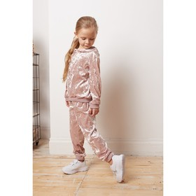 Костюм: худи, брюки KAFTAN, розовый, рост 110-116, р.32