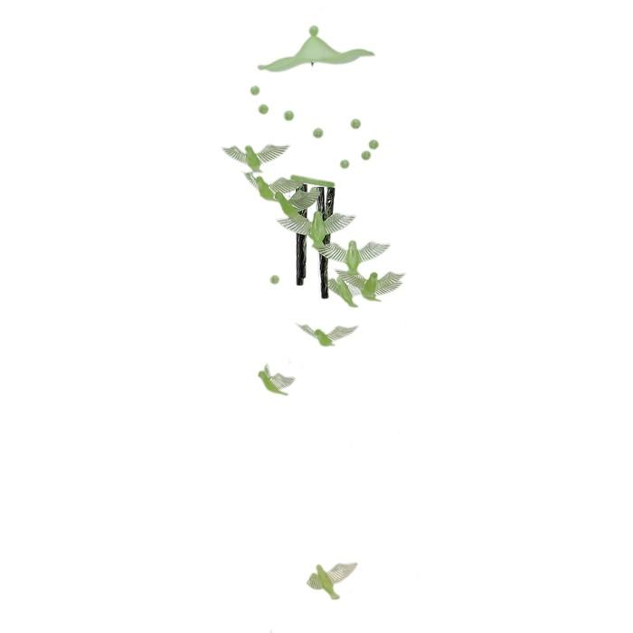 Музыка ветра 4 трубочки и 11 фосфорных птичек