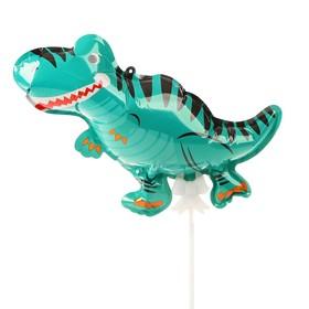 "Шар-самодув 9"" «Динозаврик», с палочкой, топпер"
