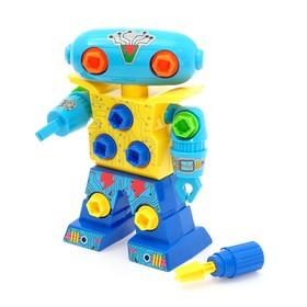 Конструктор винтовой «Робот», с отвёрткой, МИКС