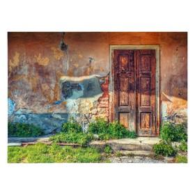 """Фотофон винил """"Вход в старый дом"""" 210х150 см"""