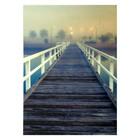 """Фотофон винил """"Мост через реку"""" стена+пол 210х150 см"""