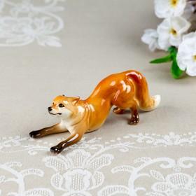 """Souvenir """"the Fox - cheat"""", 14×5×5 cm, mix, porcelain"""