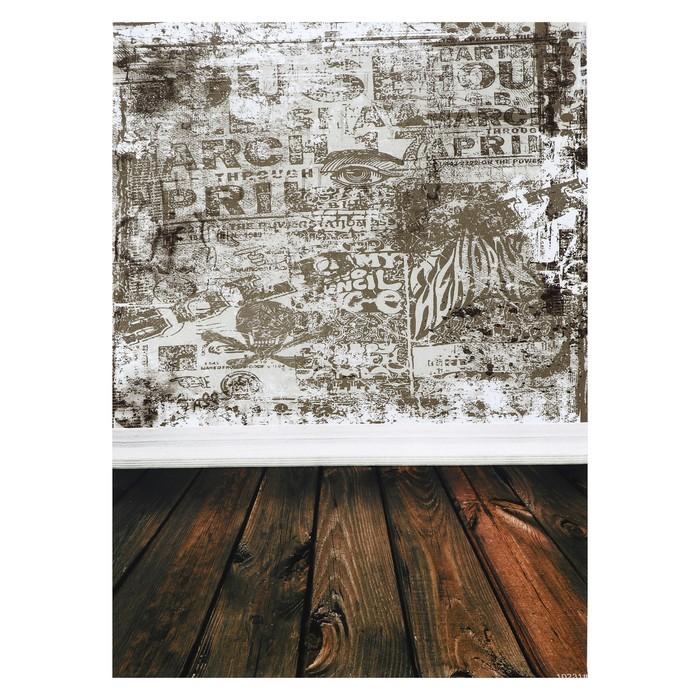 """Фотофон винил """"Граффити на стене"""" стена+пол 80х125 см - фото 697428"""