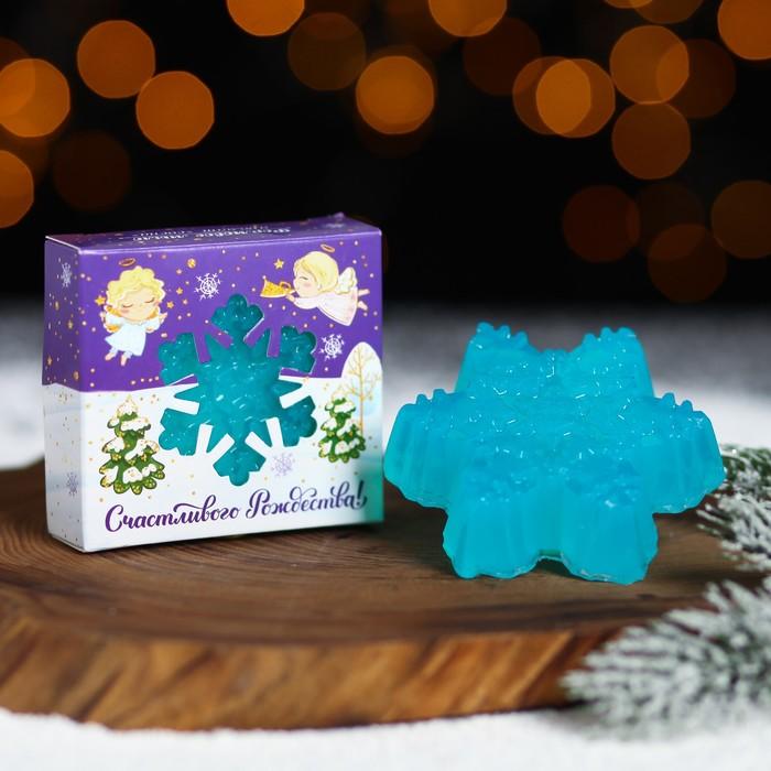 Мыло в форме снежинки «Счастливого Рождества!»