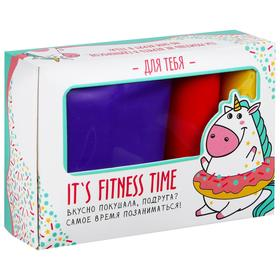 Фитнес набор Fitness time: лента-эспандер, набор резинок, инструкция, 10,3 × 6,8 см