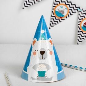 """The cap """"Bear"""" set of 6 pieces, color: blue"""