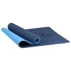 Коврик для йоги 183 × 61 × 0,6 см, двухцветный, цвет синий - фото 731287