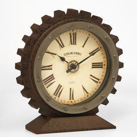 """Часы настольные """"Шестеренка"""", плавный ход, 21 х 20 см, d=13.5 см"""