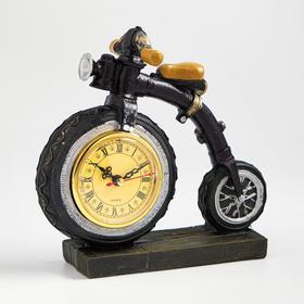 """Часы настольные """"Велосипед"""", дискретный ход, 20 х 21 см, d=8 см"""