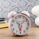 "Alarm clock ""Quigley"", backlit, 16h11 cm, pink"