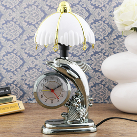 """Часы-светильник """"Флиппер"""", с будильником, 27х12 см"""