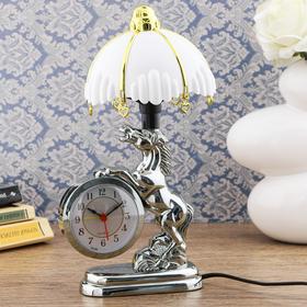"""Часы-светильник """"Мустанг"""", с будильником, 27х12 см"""
