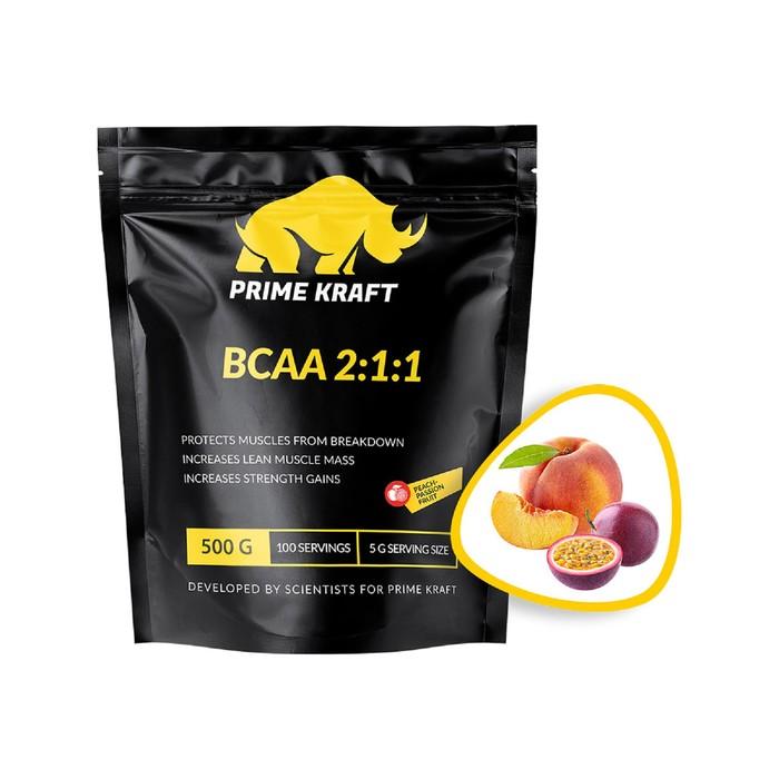 BCAA 2:1:1 PRIME KRAFT peach-passion fruit, персик-маракуйя 500 г.