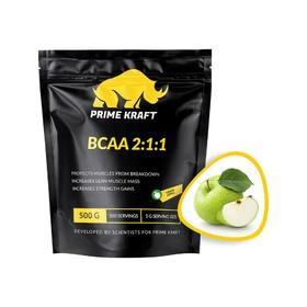 BCAA 2:1:1 PRIME KRAFT green apple, зеленое яблоко 500 г.